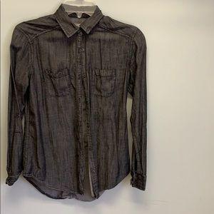 Abercrombie Grey Button Down Shirt